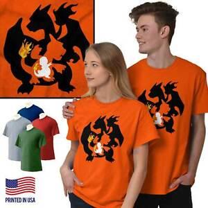 Fire-Lizard-Evolution-Video-Gamer-Nerd-Geeky-Short-Sleeve-T-Shirt-Tees-Tshirts