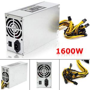 1600W ETH Mining Power Supply Machine For 6