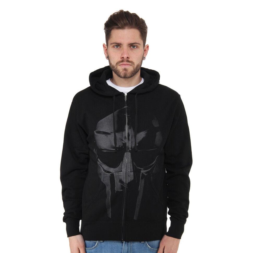 MF DOOM-Mask Zip-Up Hoodie nero con cappuccio giacca zip hoodie