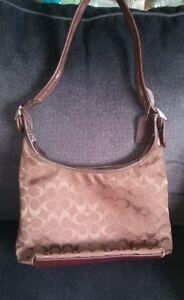 Coach brown hobo bag