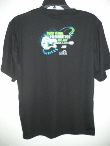 T-shirt Rock /& Roll Marathon San Jose 2009 EXTRA SMALL NOIR venilated Mesh NEUF