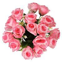 1 Bouquet 18 Heads Artificial Rose Silk Flower Decor Home Wedding Party Bridal