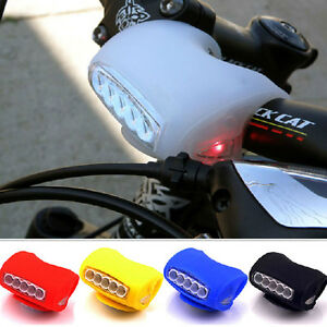 Black-HOT-Cycling-Bike-Bicycle-7-LED-Black-Silicone-Warning-Rear-Front-Light-TI