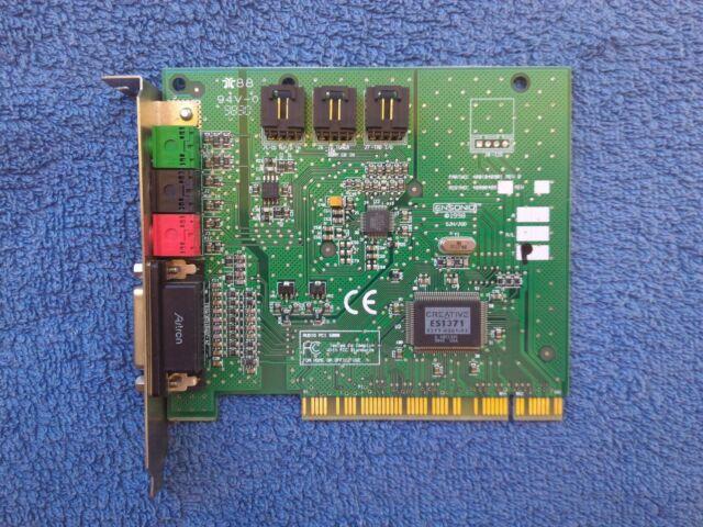ENSONIQ PCI 1371 WINDOWS VISTA DRIVER