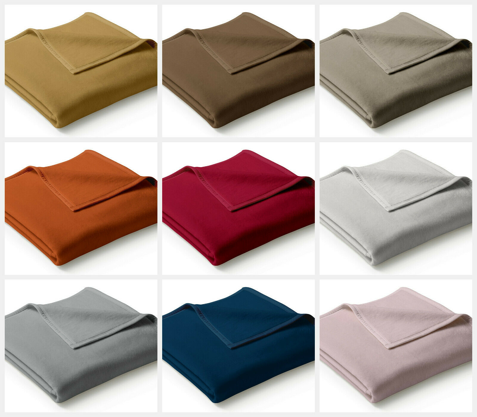 Neue Biederlack Decke Wohndecke Uno Cotton 150x200 verschiedene Farben