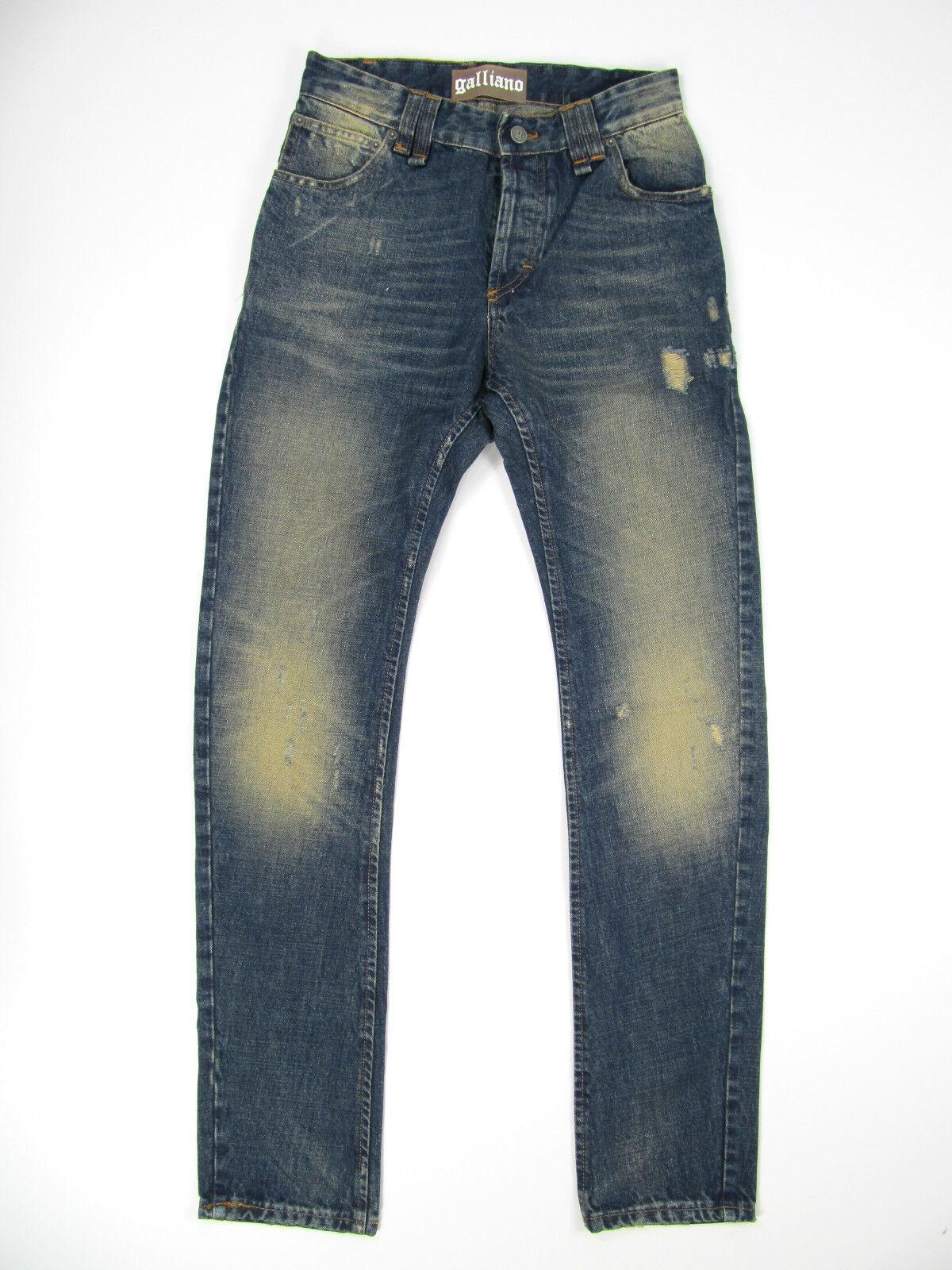 John Galliano Herren Jeans Authentic Hose Denim Pants Taperot Taperot Taperot Neu Blau 1d747c