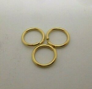 9ct gold rolled gold 7 mm bolt ring open jewellery fastener x 3