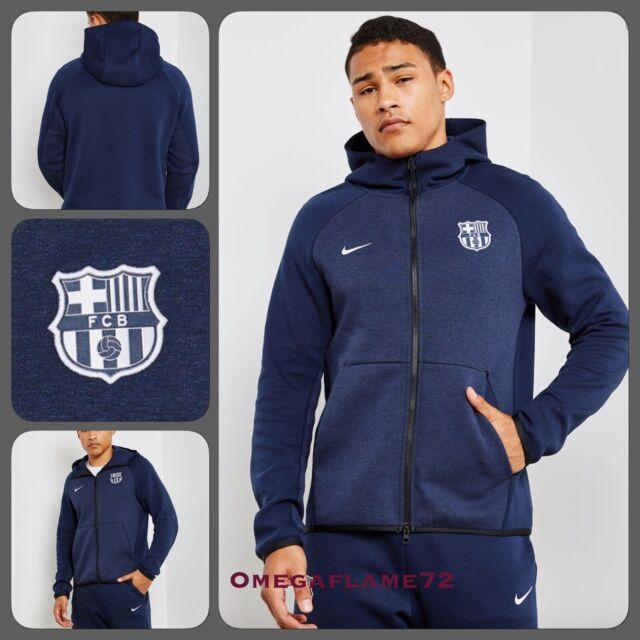 Nike FC Barcelona, Tech Fleece Full Zip Hooded Top, ah5199 451, sz XXL