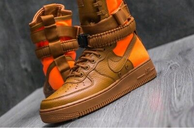 10 MEN'S Nike Air Force SF AF1 QS Special Field Desert Ochre 903270 778 ORANGE 884500083738 | eBay