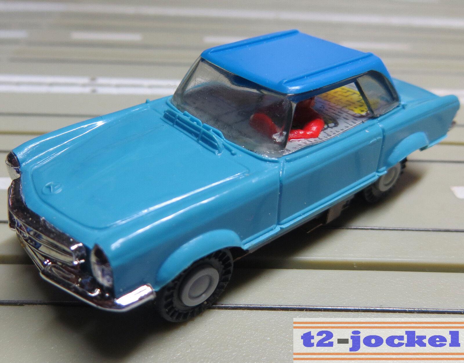 Faller Ams Mercedes 230 Sl Coupè con Motore di Blocco + 8 Nuovo Repro Ruote