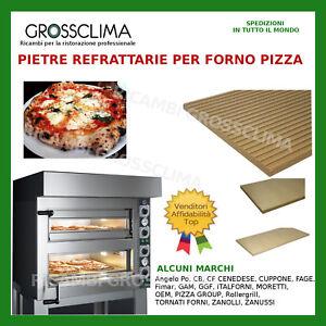 PIETRA REFRATTARIA 716x358x16+3 mm PER FORNO PIZZA CUPPONE