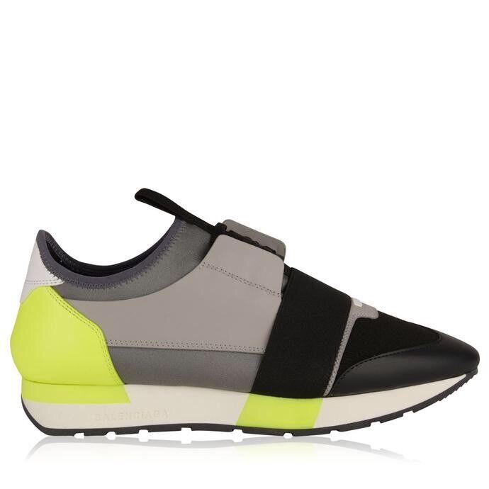 Balenciaga Black Green Race Runners - BNWB - 100% Authentic