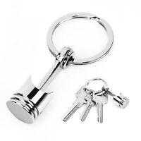 Silver Auto Car Engine Part Alloy Model Metal Piston Keychain Keyring Keyfob CHI