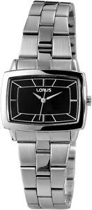 Lorus-Damenuhr-Schwarz-Analog-Edelstahl-Quarz-Armbanduhr-XRRS35RX9