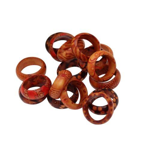 Zubehör zahnend Spielzeug Basteln 50x DIY Holz Ringe Baby Gymnastik 16mm