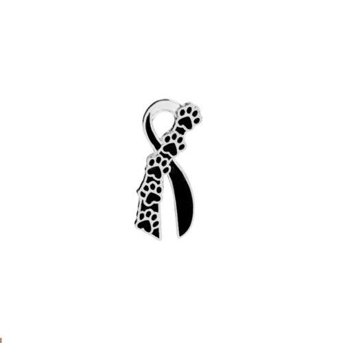 Dog Cat Pet Paw Prints Brooches Badges Women Girls Ribbon Brooch Pin Jewelry Hot