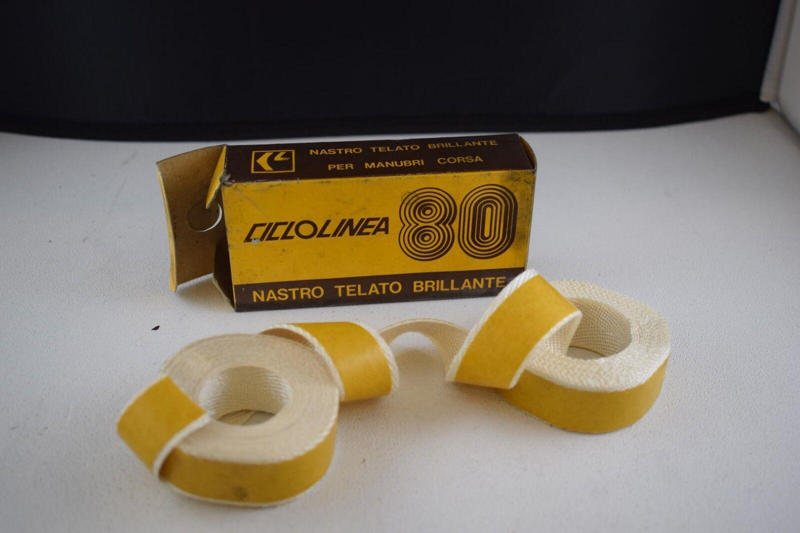 CICLOLINEA 80 Cotton handlebar grip tape set white 80s Vintage NIB NOS