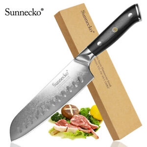 Classic 7 in Japanese Santoku Knife VG10 Damascus Vegetable Meat Kitchen Cutlery