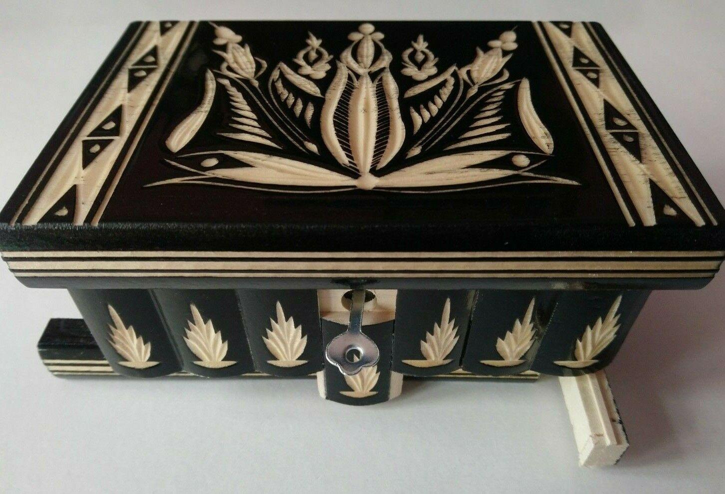 schwarz jewelry puzzle magic box brain teaser with hidden key storage treasure