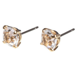 free shipping hot-selling cheap latest discount Details about 16k Gold Plated Stud with Swarovski Crystal and Titanium Post  Earrings by Zoetik