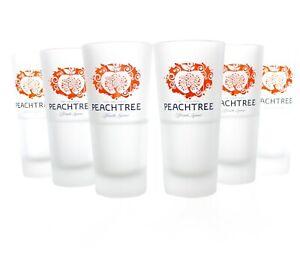 6x PEACHTREE Gläser Set Longdrink Likör Glas satiniert Cocktail Bar ~mn39 1013