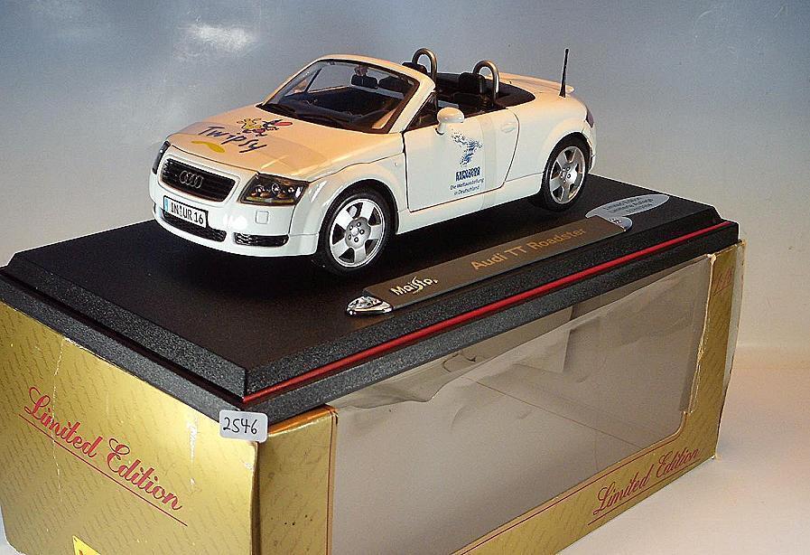 Maisto 1 18 Audi TT Roadster White twipsy Expo 2000 Hannover BNIB