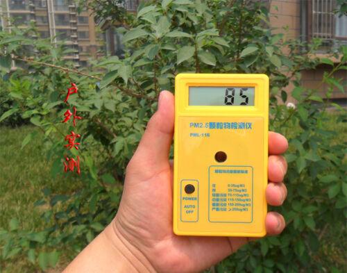 Digital Portátil la calidad del aire Polvo Haze PM2,5 Tester Medidor Sharp gp2y1010au