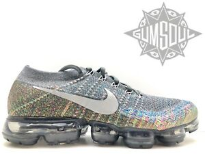 quite nice 1c31c d4451 Image is loading NIKE-AIR-VAPORMAX-FLYKNIT-MULTICOLOR-DARK-GREY-REFLECT-