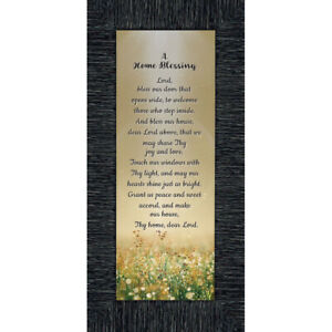 **NEW** Frames of Mind A Home Blessing God Bless This Home Sign 6x12 7314