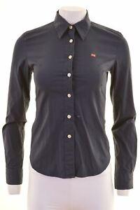 Polo-Jeans-Company-by-Ralph-Lauren-Damen-Shirt-Groesse-10-Small-Navy-Blau-iw08