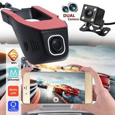 1080P Wifi Car Hidden DVR Camera with Dual Lens Night Vision Dash Cam US STOCK