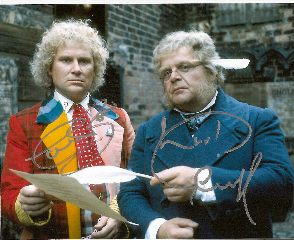 DR WHO signed 10x8 - Colin Baker & Geoffrey Hughes Hughes Hughes (deceased) 47a7c7