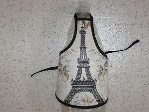 Eiffel-Tower-Paris-cotton-fabric-Handmade-dish-soap-or-wine-bottle-apron