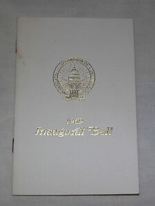VINTAGE 1969 PRESIDENT RICHARD NIXON INAUGURAL BALL PROGRAM