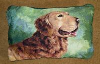 Golden Retriever Rectangular Tapestry Pillow