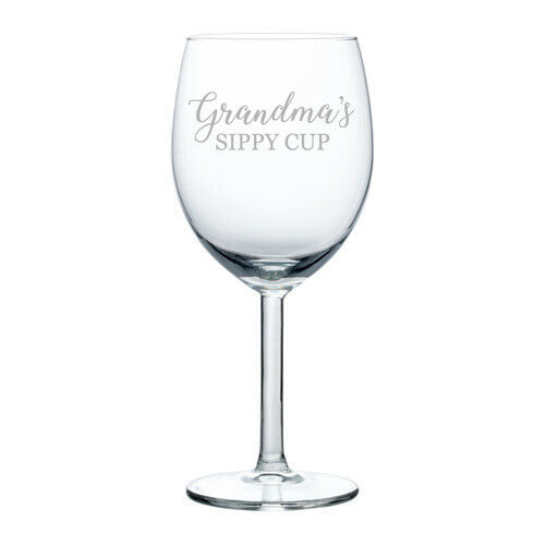Its not Drinking Alone if your Dog is Home Funny Gift Laser Etched Wine Glass Cursive 15 oz