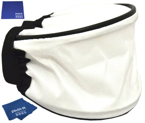 Phot-R Universal White Soft Cloth Flash Bounce Diffuser Microfibre Chamois Cloth