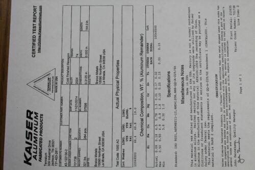 "8 Pieces HEX 5//16/"" ALUMINUM 2024 Hex BAR 14/"" long T4 SOLID LATHE STOCK .312/"""