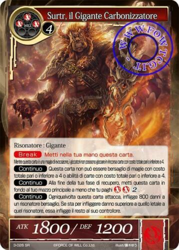 Surtr, il Gigante Carbonizzatore the Incinerating Giant FoW 3026 EngIta