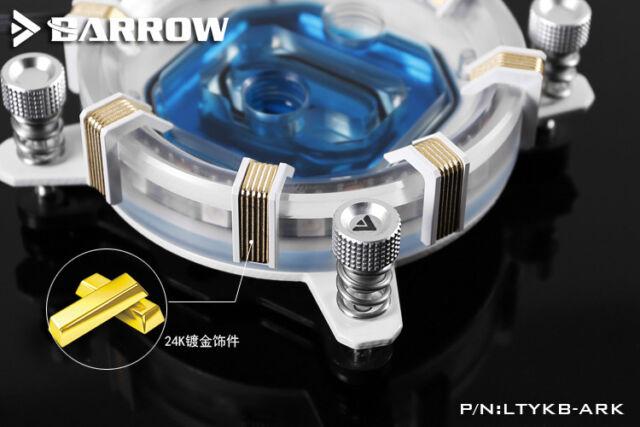 BARROW LTYKB-ARK INTEL core 115X CPU Water Cooling Block IRON MAN  RGB+remote
