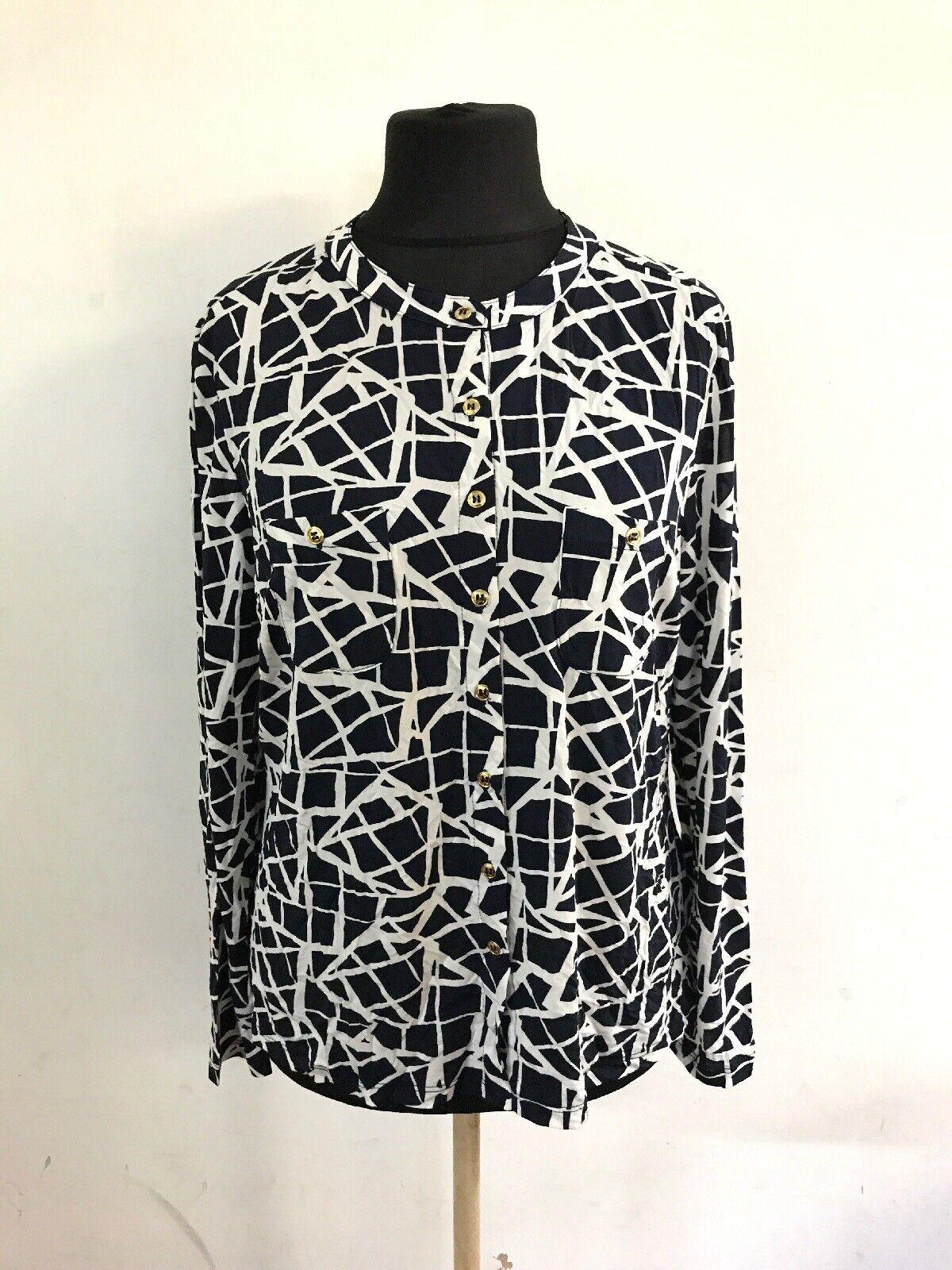 CL15Artigiano damen Jersey Shirt Blau Weiß Größe
