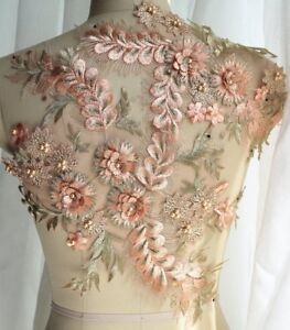 Appliques Pink Gold Beaded Exquisite Applique With 3d Flowers For Wedding Dress Ebay,Classy African Dresses For Wedding Guests