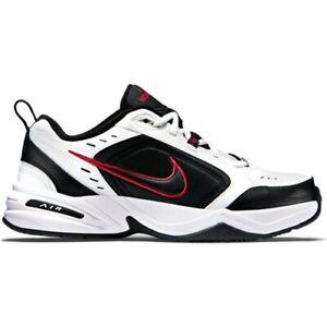 Scarpe-uomo-Nike-Air-Monarch-IV-415445-101-bianco-nero-rosso-sneakers-sportiva