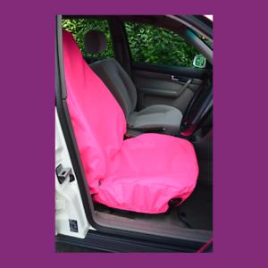Front Single Car Van Pink Waterproof LARGE Universal Airbag Seat Covers