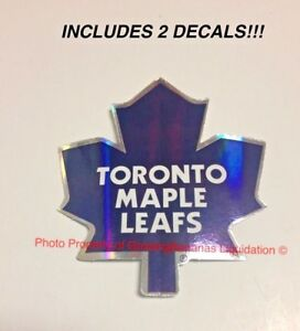 Toronto-Maple-Leafs-NHL-Logo-Die-Cut-Sticker-Decal-Gloss-Glossy-Finish-2-PACK
