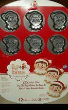 New ELF on the SHELF Cookie Pan 12 CAVITIES Wilton Non Stick Cookies Santa Xmas
