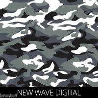 Wave Digital Camo Print Dip Stick Hydrographic Film