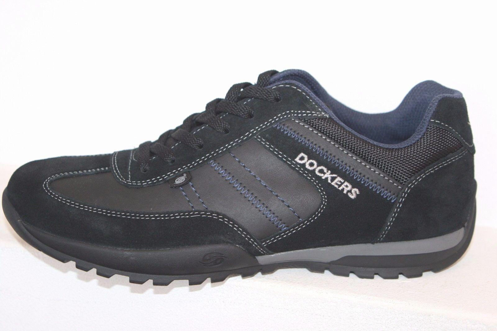 Dockers Scarpe Uomo Scarpe basse con lacci scarpe casual nero vero cuoio