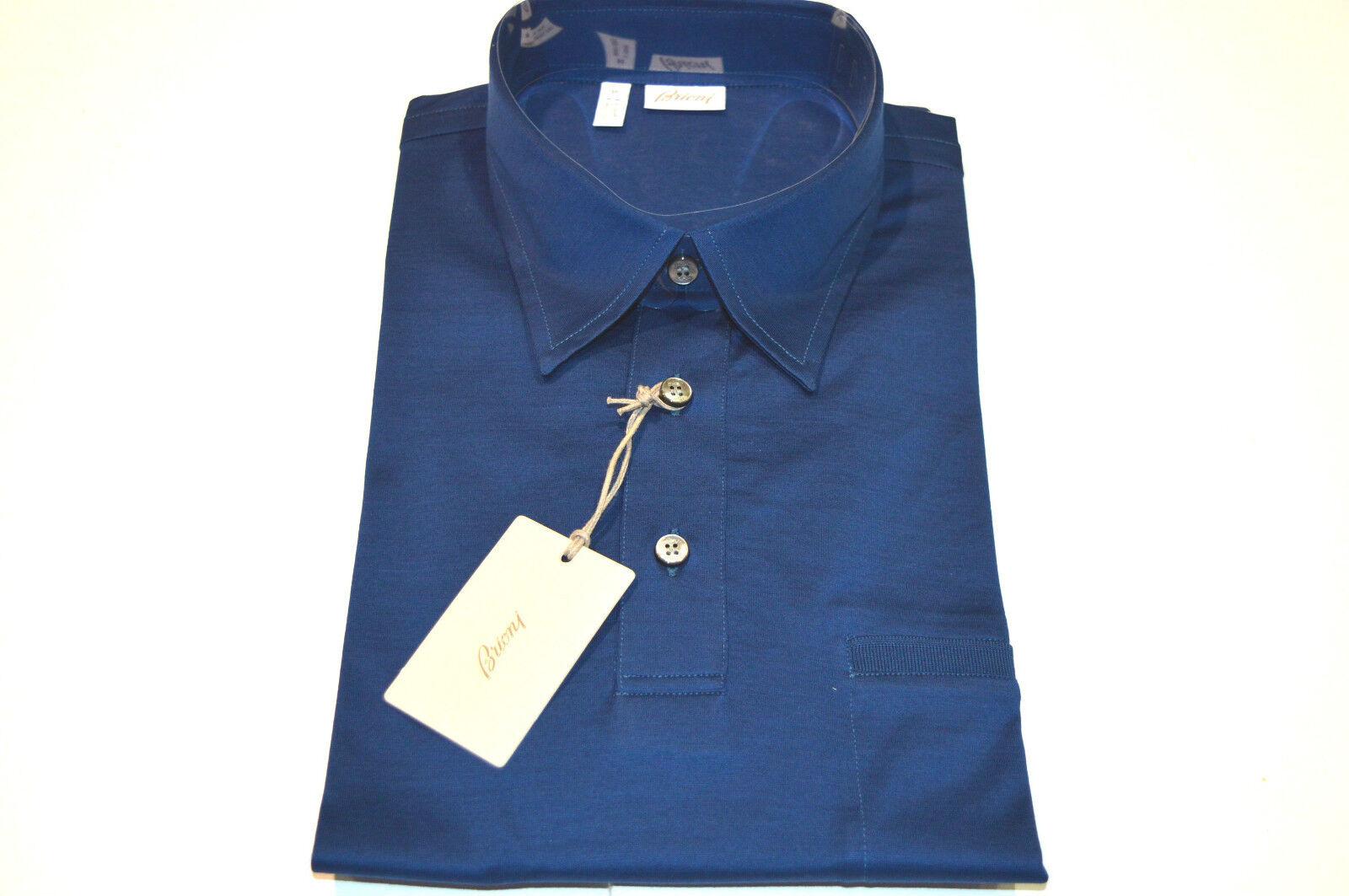 NEW  BRIONI Polo  Short Sleeve baumwolle Größe M Us Eu 50 (SGcoel)