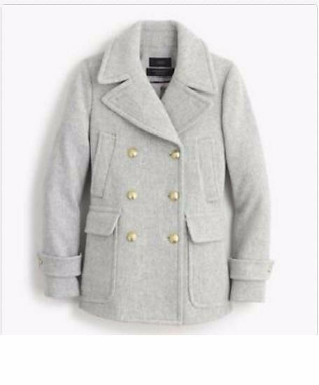 NEW J CREW STADIUM STADIUM STADIUM CLOTH MAJESTY PEA COAT - Heather Dust P2 624a4f